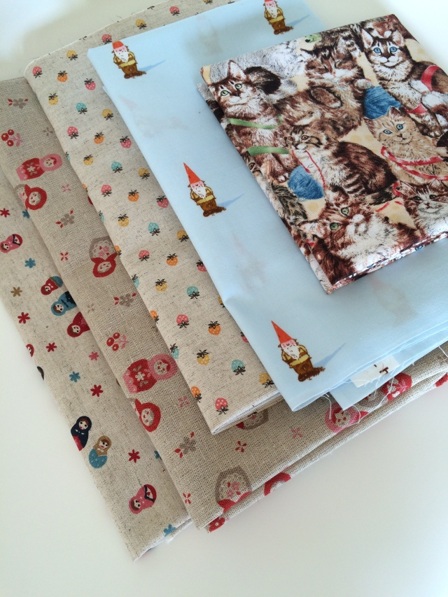 Heather Ross Gnomes Fabric Japanese Linen Fabric