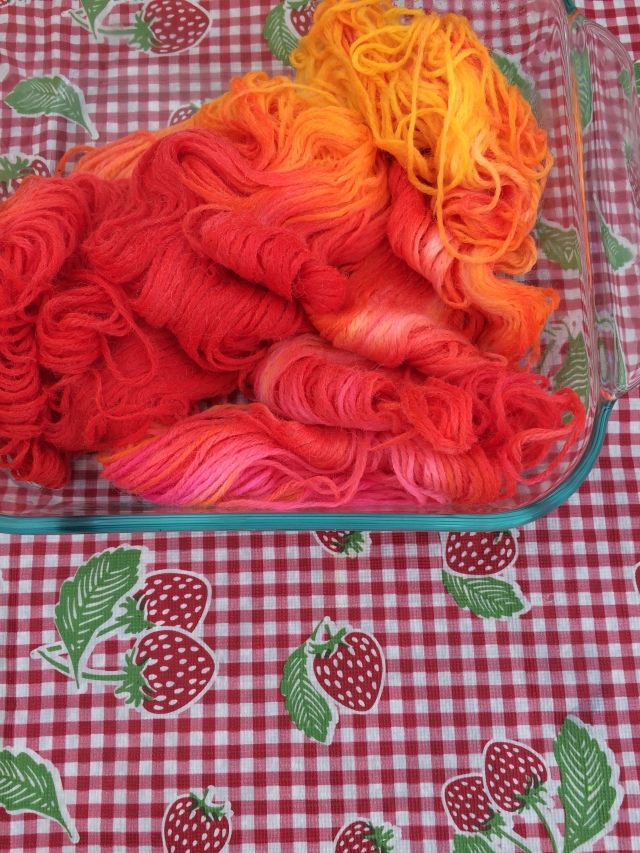 Acid Dyed Wool Yarn